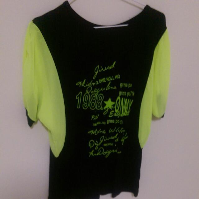 螢光綠上衣
