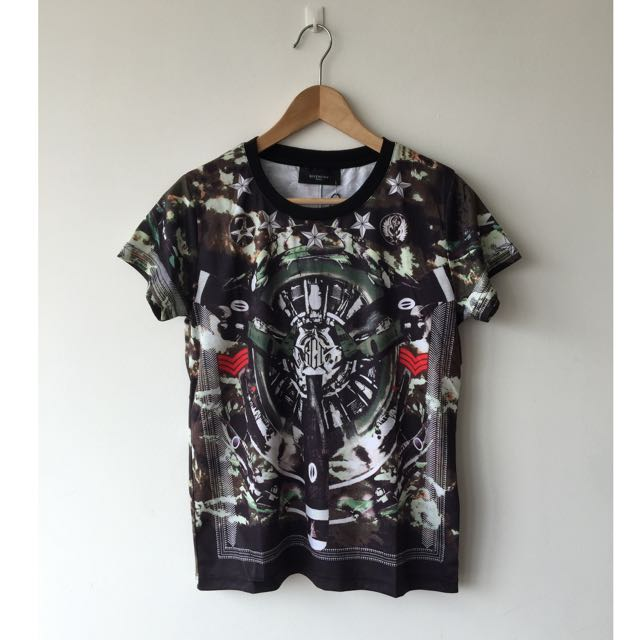 Brand New Givenchy Renaissance Military Printed Tee Tshirt