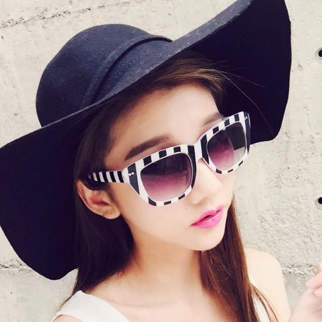 全新-the girlwho黑色遮陽帽