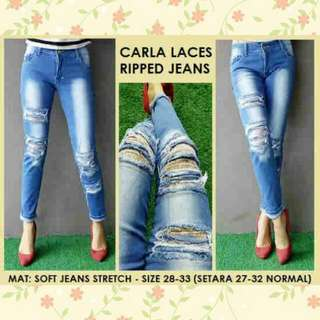 Carla Lace Ripped Jeans
