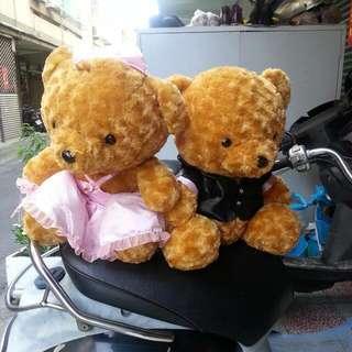 中型婚禮熊2支一起賣
