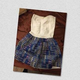 【出售】藍白繃帶裙