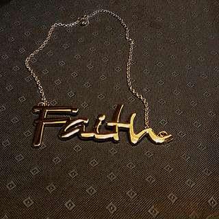 <第二件半價>現貨faith金屬感項鍊
