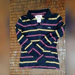 ❕降❕JEEP條紋長袖polo衫