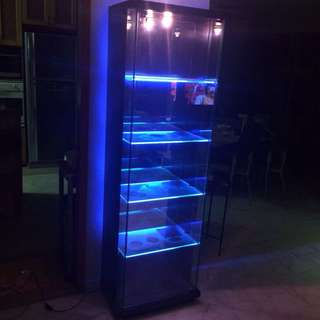 Glass Display Cabinet With Led Lights