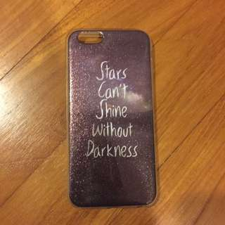 """iPhone 6/6s """"Stars Can't Shine Without Darkness"""" Shiny Case"""