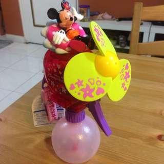 東京迪士尼 正版 米妮噴水風扇/水槍 全新/現貨