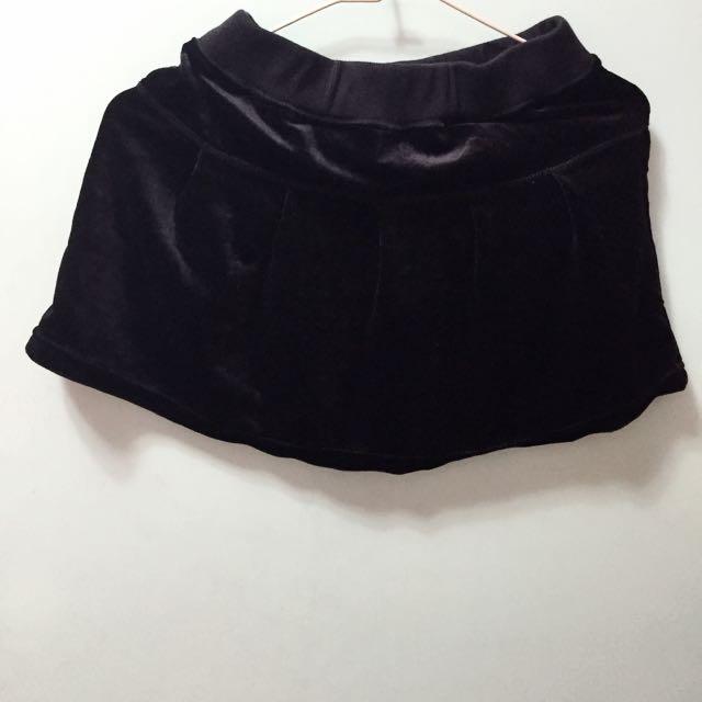 ✨毛呢 黑 裙子