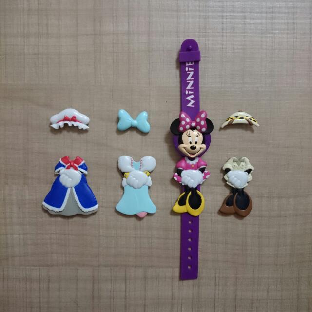 Disney變裝QQ電子錶⌚-米妮