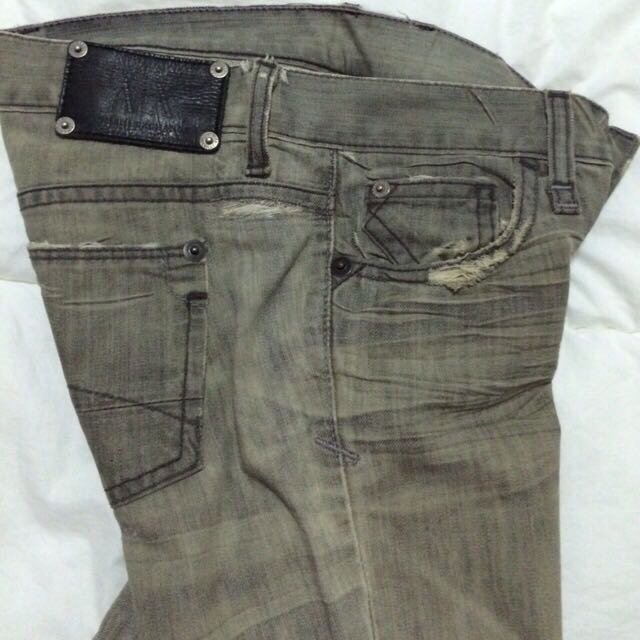 Final Clearance Sale: A/X Grey Distressed Jeans, brand new