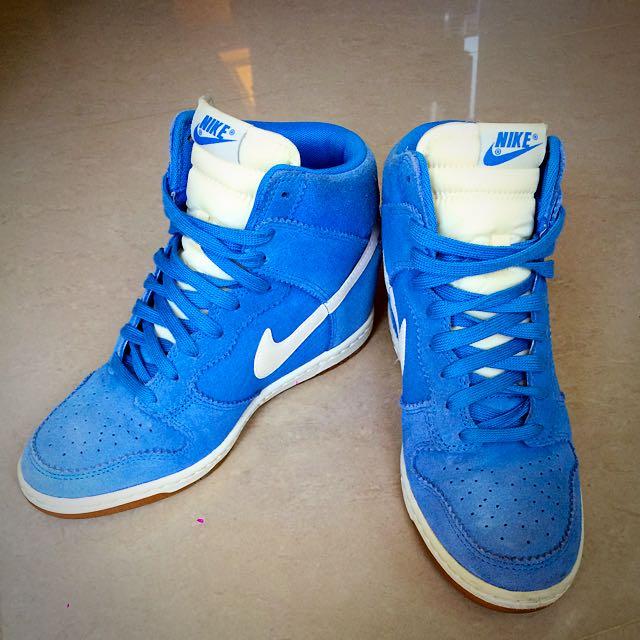 [美國帶回][US8] Nike WMNS Dunk Sky Hi 藍色 麂皮 內增高