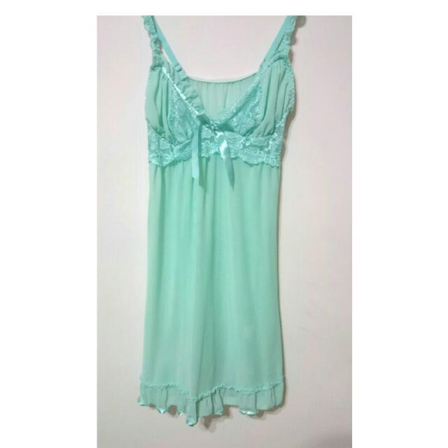 Tiffany 綠 性感薄紗睡衣