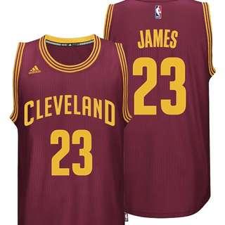 LeBron James 2015 騎士隊一般客場球衣