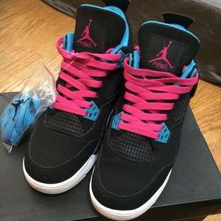 正品 Air Jordan 女鞋 25cm 黑桃藍配色 9成新
