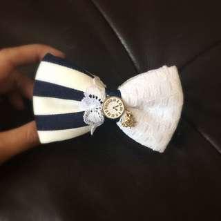 可愛海軍風格💕蝴蝶結髮飾