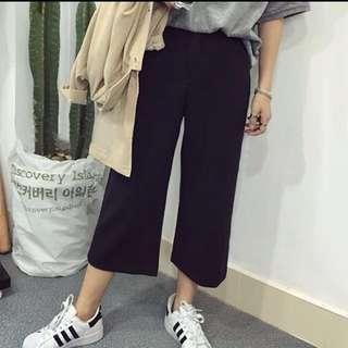 全新黑色寬褲s