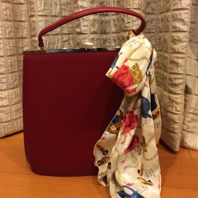 酒紅色提袋