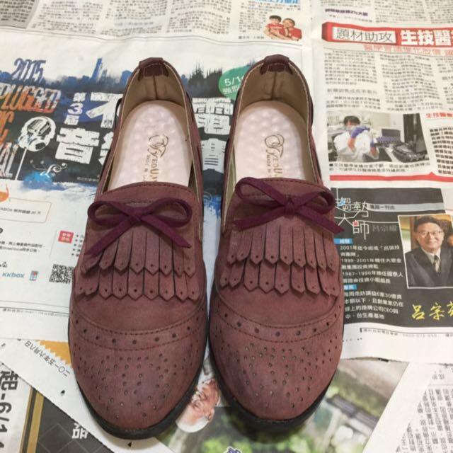 ✨酒紅牛津鞋