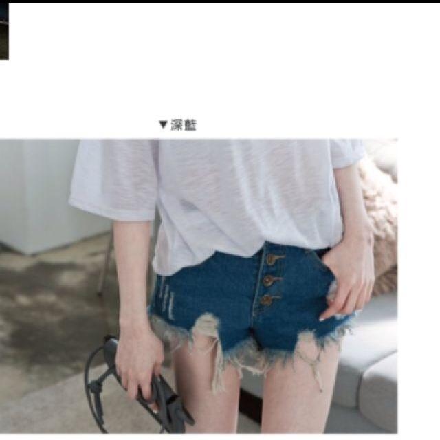 超長腿高腰短褲✨