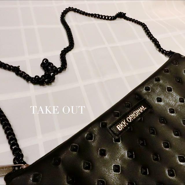 (無現貨)Bkk Original 泰國空運 正版 仿皮 卯丁 黑 肩背包 側背包