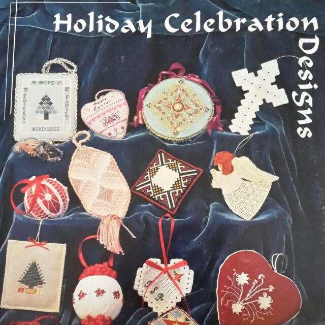 Rare Cross Stitch Book Holiday Celebrations By The Embroidery Guild