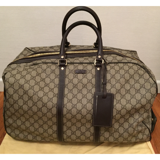 c72c8b167971 GUCCI TRAVEL DUFFEL BAG WITH WHEELS