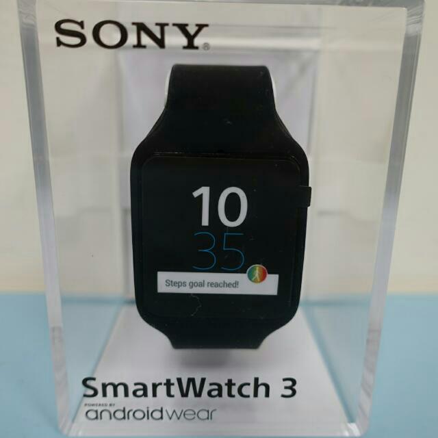 Sony SmartWatch 3 SWR50 智慧手錶 (黑色矽膠錶帶)