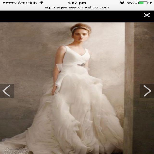 Wedding Dress White By Vera Wang