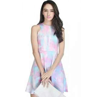 BNWT Fayth Canyon Dress In Blue/pink In Size S