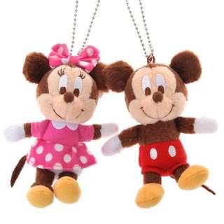 🎉Disney東京直送🎉米奇米妮相親相愛吊飾娃娃組