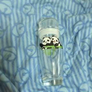 貓熊玻璃杯罐