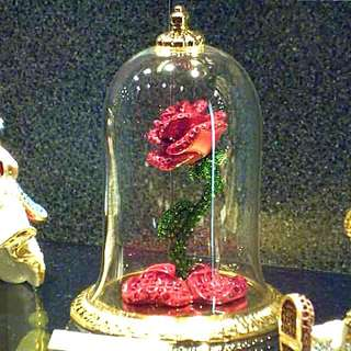 Disney施華洛世奇玫瑰花玻璃盅★