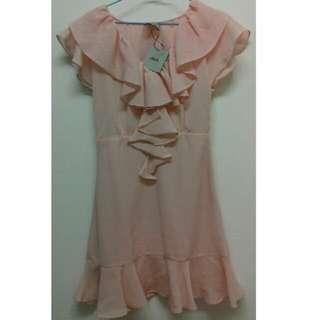 ASOS PINK DRESS 全新粉色洋裝,尺寸:4號