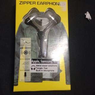 Zipper Earphones [Black] BN