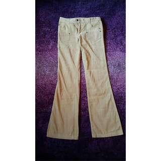 Beige Velvet Jeans