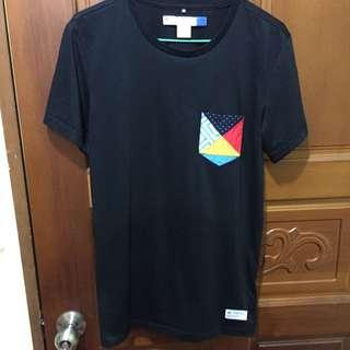 Adidas 口袋拼接撞色T(兩件1000)