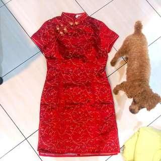 正絲綢旗袍