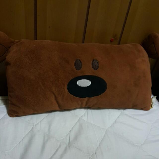 豆豆先生泰迪熊抱枕