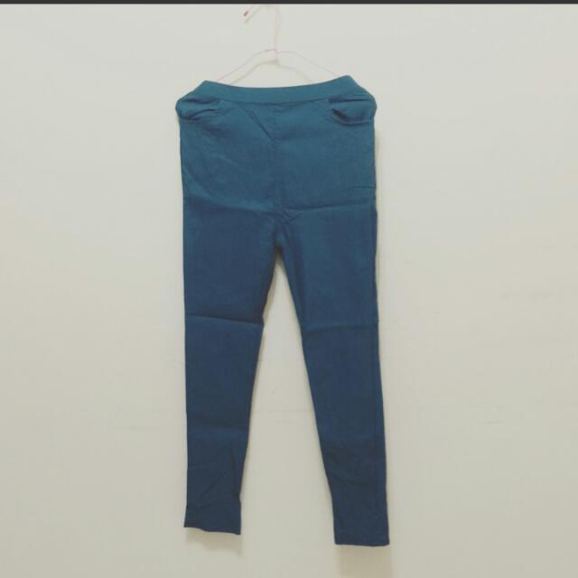 🌹 韓版時尚顯瘦彈力素面長褲
