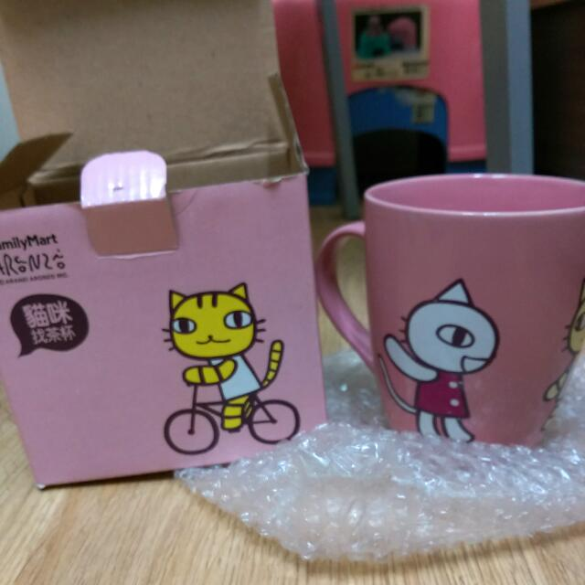 (含運)全家 阿朗基私杯SHOW貓咪找茶馬克杯