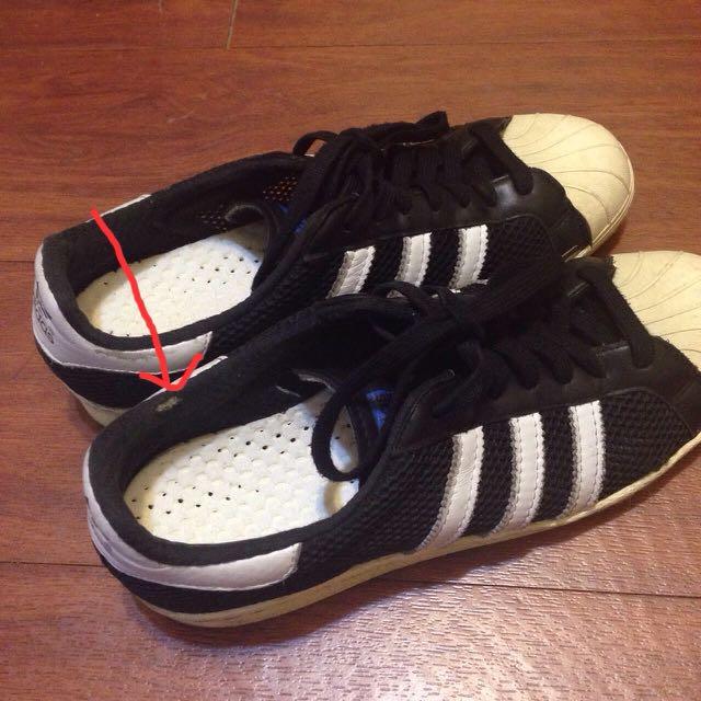 Adidas復古黑呼吸運動鞋