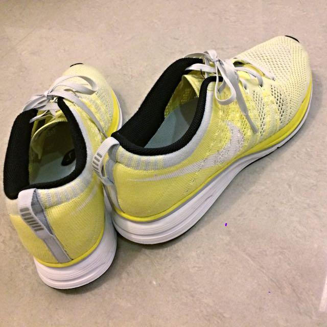 [美國帶回][US8]Nike Flyknit One Lunar 1 編織 網面 透氣 鵝黃色 男鞋 女鞋 慢跑鞋