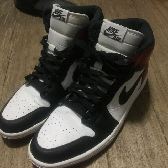 Nike Air Jordan 1 black toe aj1 黑頭 y3 球鞋 喬丹