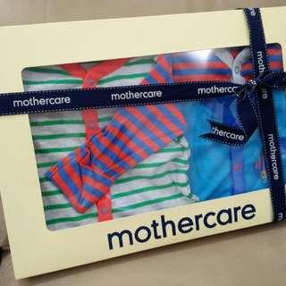 全新mothercare男寶禮盒三件組