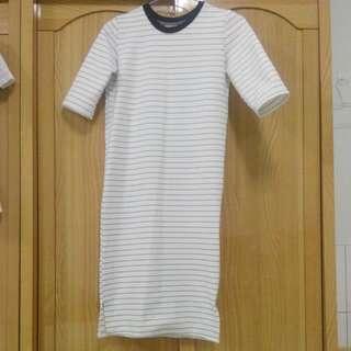 條紋棉洋裝