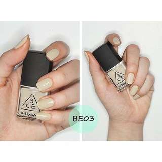3ce純色指甲油BE03