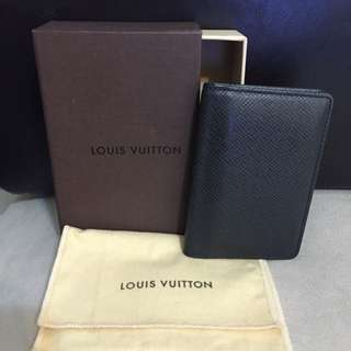 LV TAIGA 牛皮 黑色卡夾 多功能證件夾皮夾 Louis Vuitton 二手