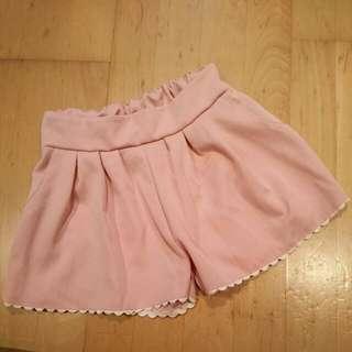 粉色花邊短褲