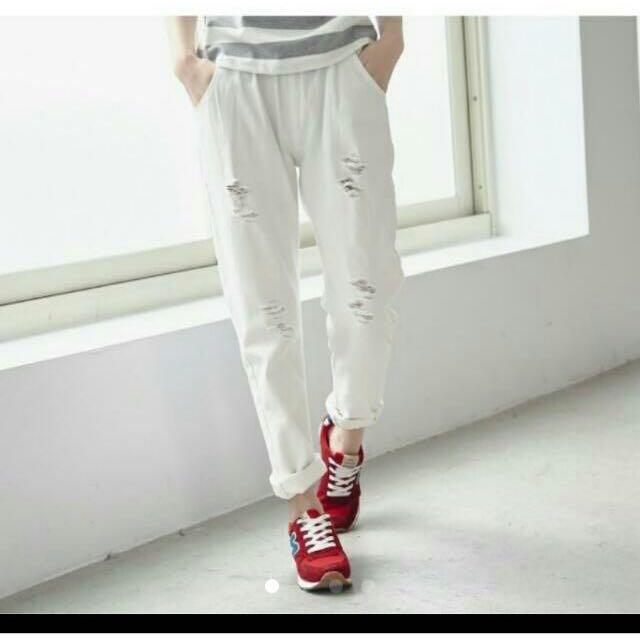 BAl Shop 顯瘦鬆緊男友褲(m號)