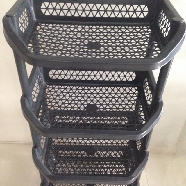 Black Plastic Storage Racks